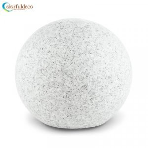 Promotional new hot style customized size marble stone look sphere led light for outdoor