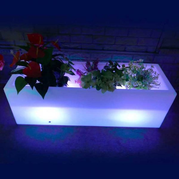 Illuminated LED long rechargeable Flower Pot