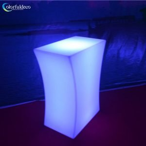 Glowing bar table