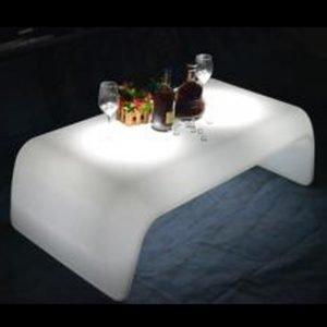 Illuminated bar table