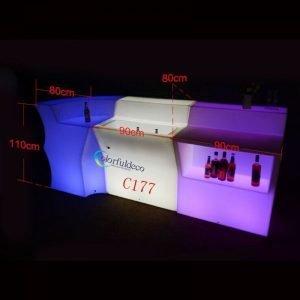 Illuminated night club furniture