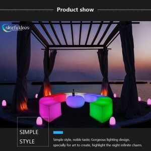 Discounted new fashionalble style made to order size polythelene illuminated bar stool for nightclub or bar