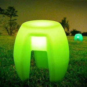 Colorful plastic LED bar stools