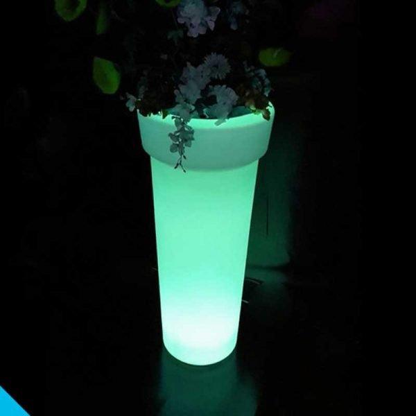 Illuminated LED flower pot