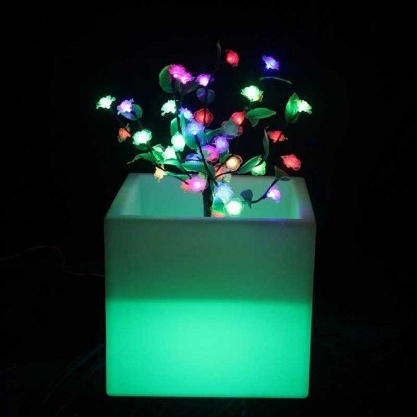 LED Cubical Flower Pot