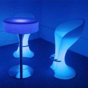 LED Cocktail Table & Stool Set