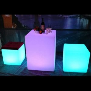 LED cube table