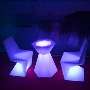 LED Table and Chair Set