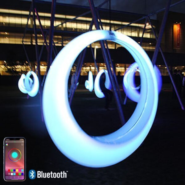 Light-up glow Boston swings with canopy