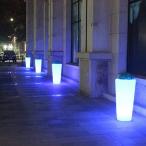 Solar LED flower pots for sale