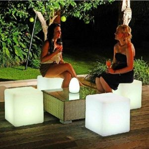 Glow Cube Table Stool
