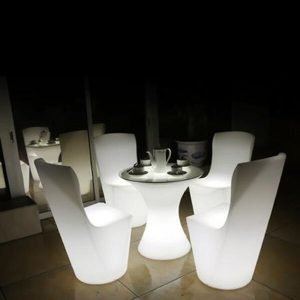LED light chair table