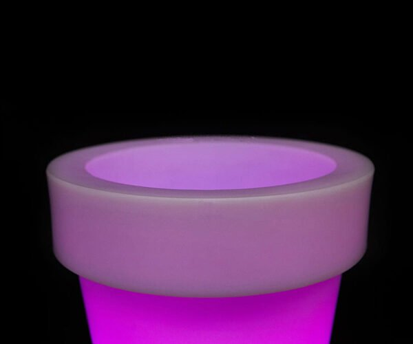 lighted planter pots