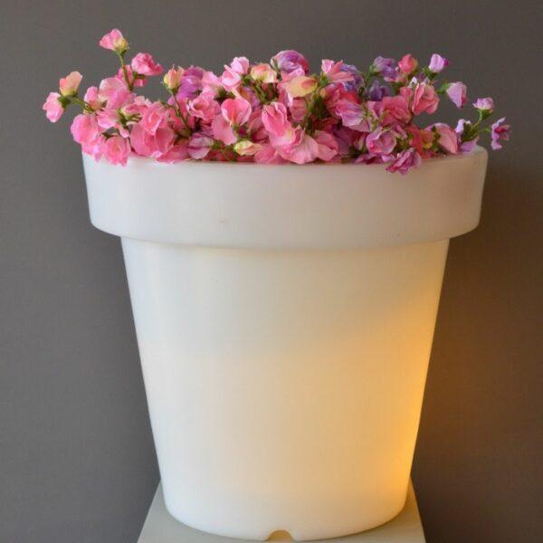 Light flower pots