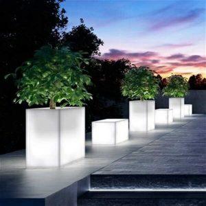 Luminous flower pots