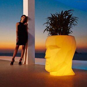 Outdoor glow head flower pot